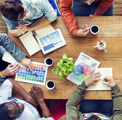 Group of Multiethnic Designers Brainstorming